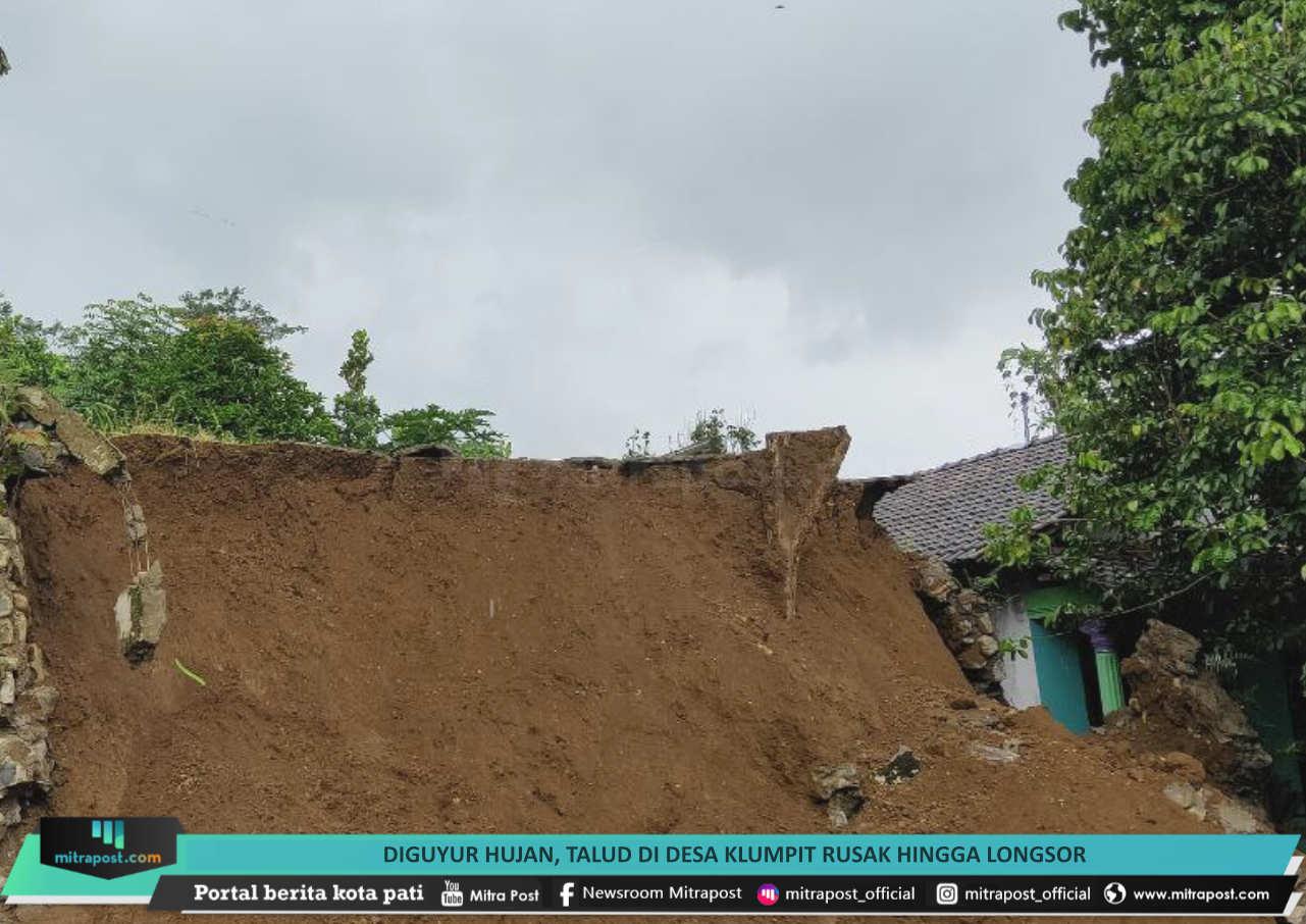 65 Diguyur Hujan Talud Di Desa Klumpit Rusak Hingga Longsor - Mitrapost.com