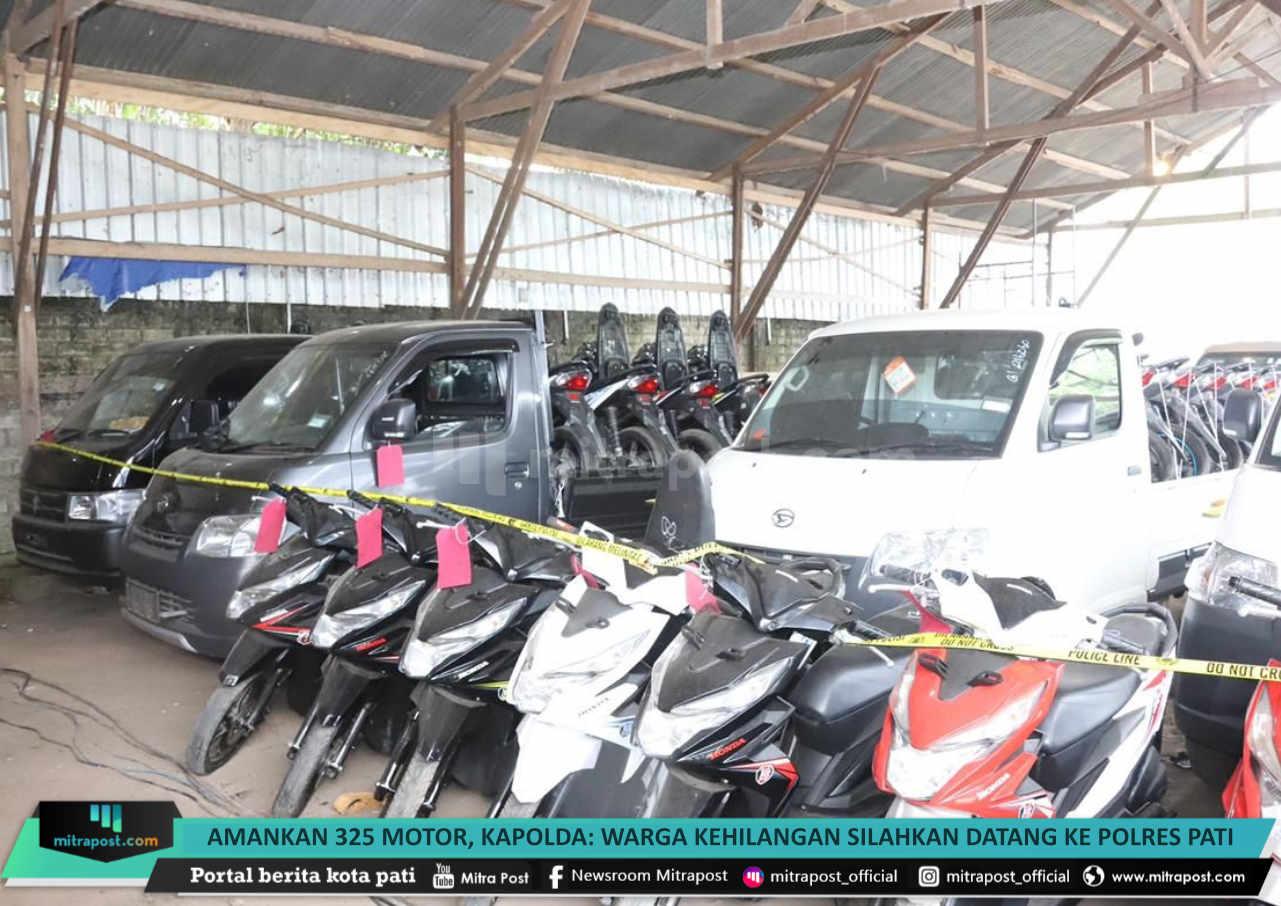 Amankan 325 Motor Kapolda Warga Kehilangan Silahkan Datang Ke Polres Pati - Mitrapost.com
