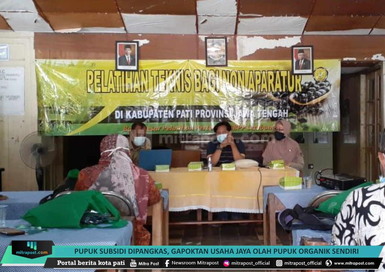 Pupuk Subsidi Dipangkas Gapoktan Usaha Jaya Olah Pupuk Organik Sendiri - Mitrapost.com