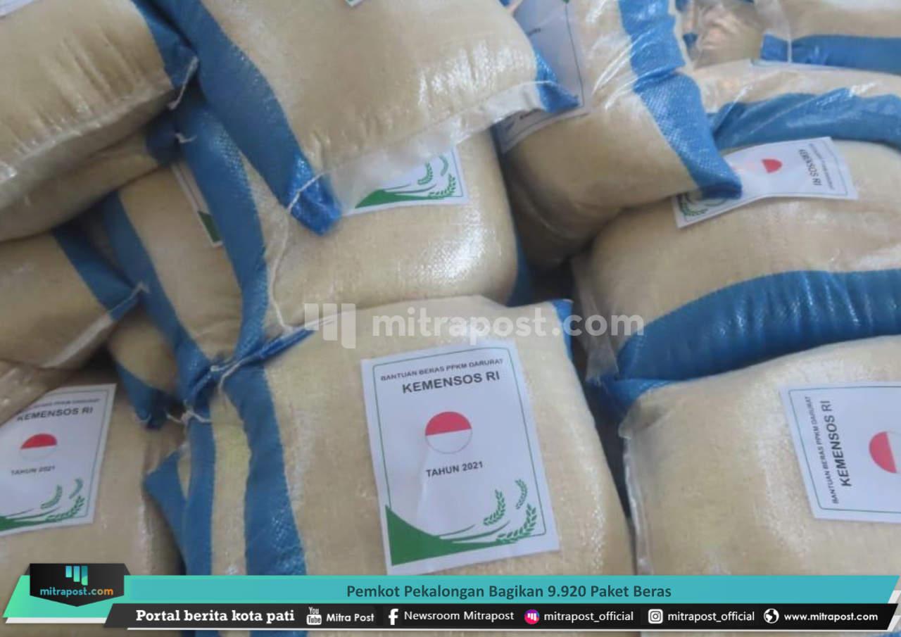 Pemkot Pekalongan Bagikan 9.920 Paket Beras