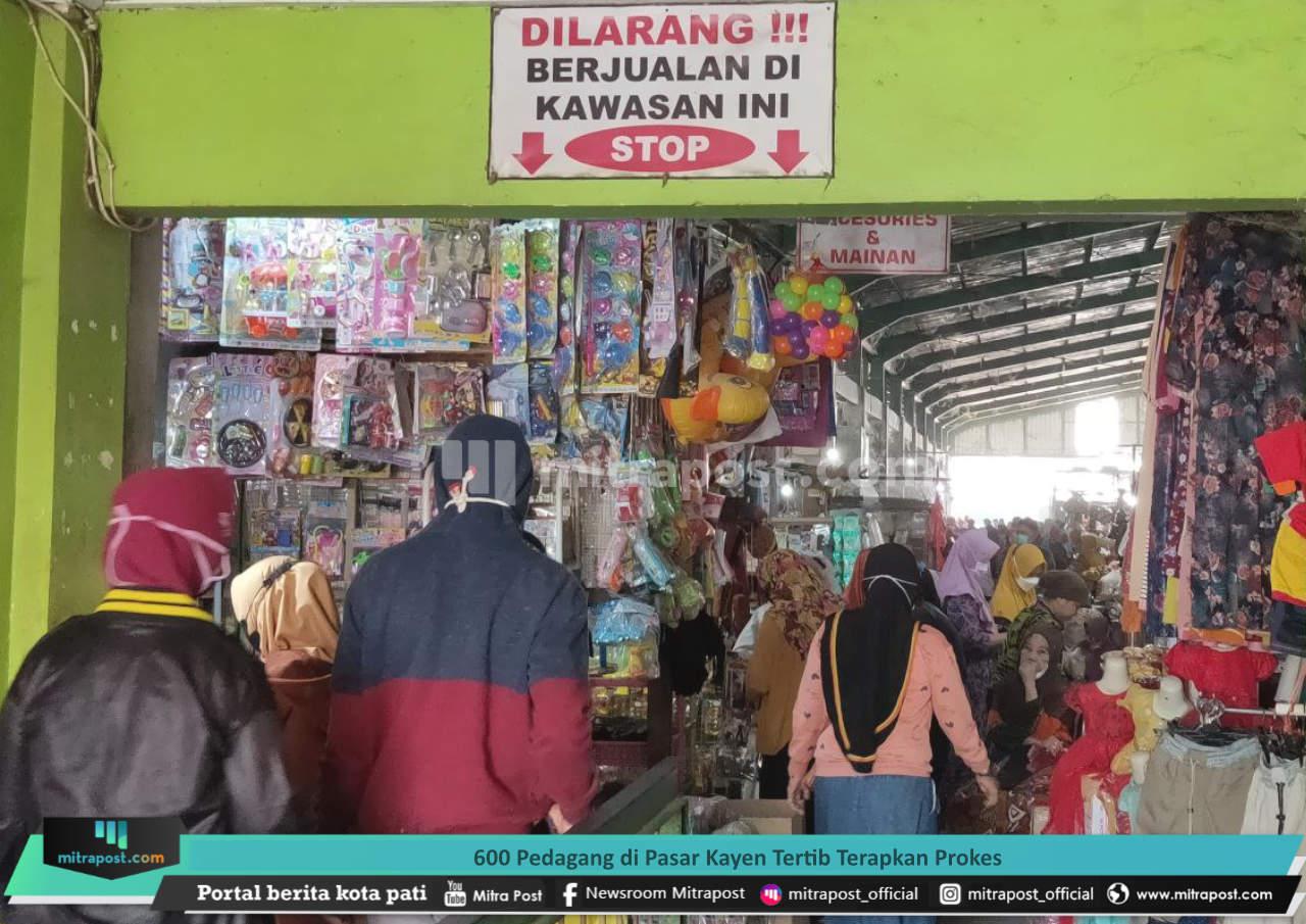 600 Pedagang Di Pasar Kayen Tertib Terapkan Prokes