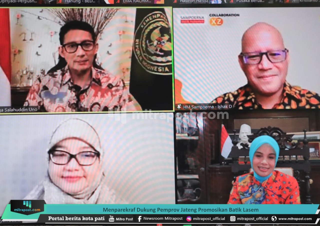Menparekraf Dukung Pemprov Jateng Promosikan Batik Lasem