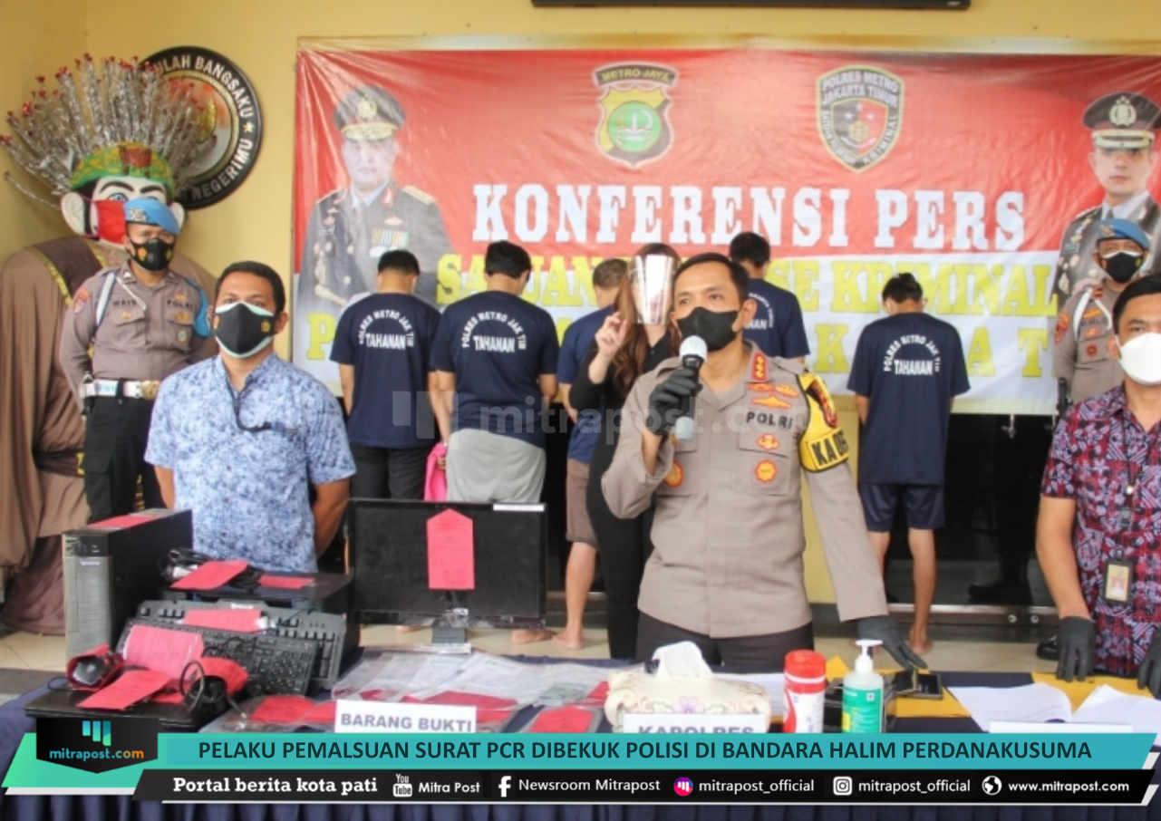 Pelaku Pemalsuan Surat Pcr Dibekuk Polisi Di Bandara Halim Perdanakusuma - Mitrapost.com