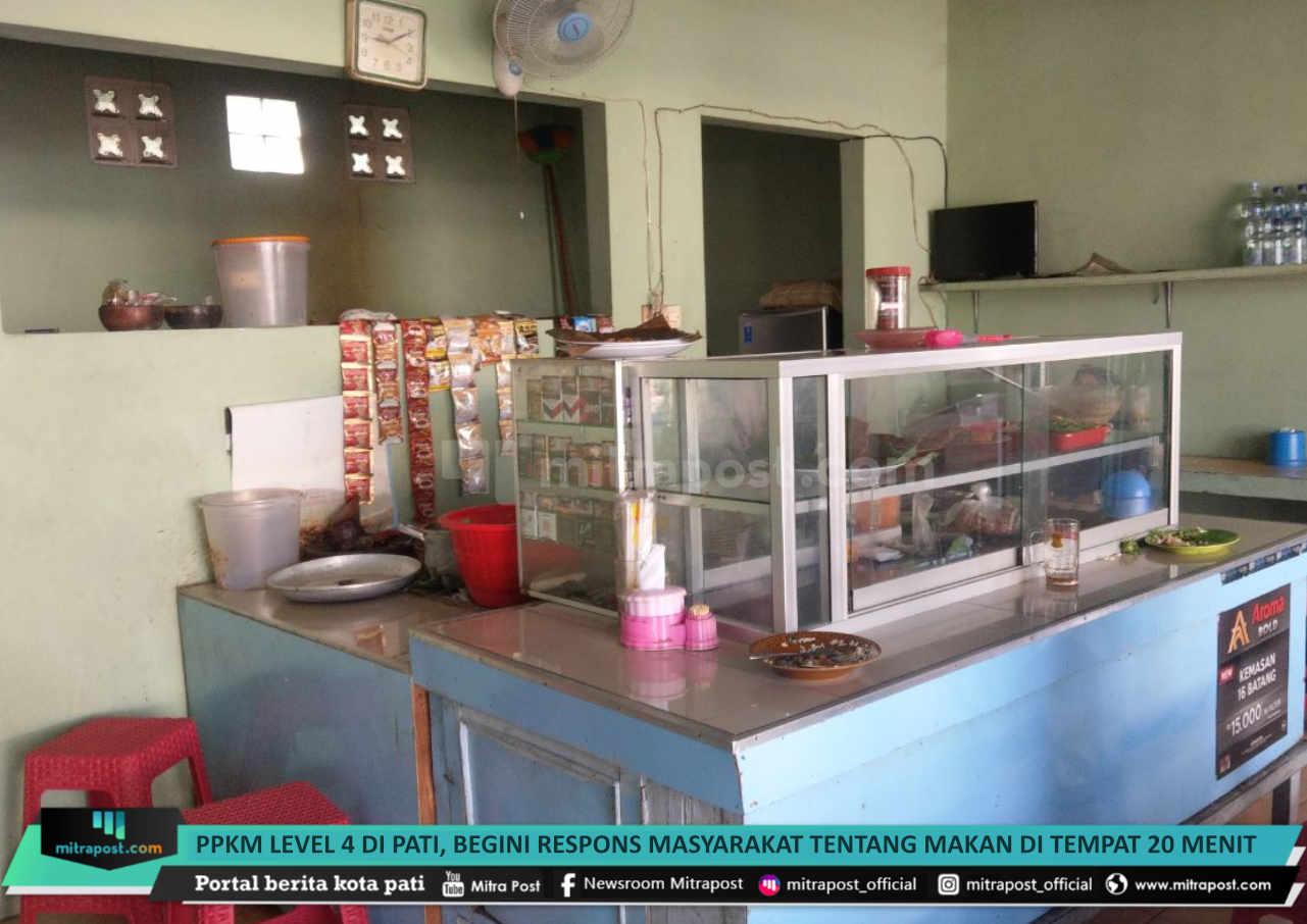 Ppkm Level 4 Di Pati Begini Respons Masyarakat Tentang Makan Di Tempat 20 Menit - Mitrapost.com