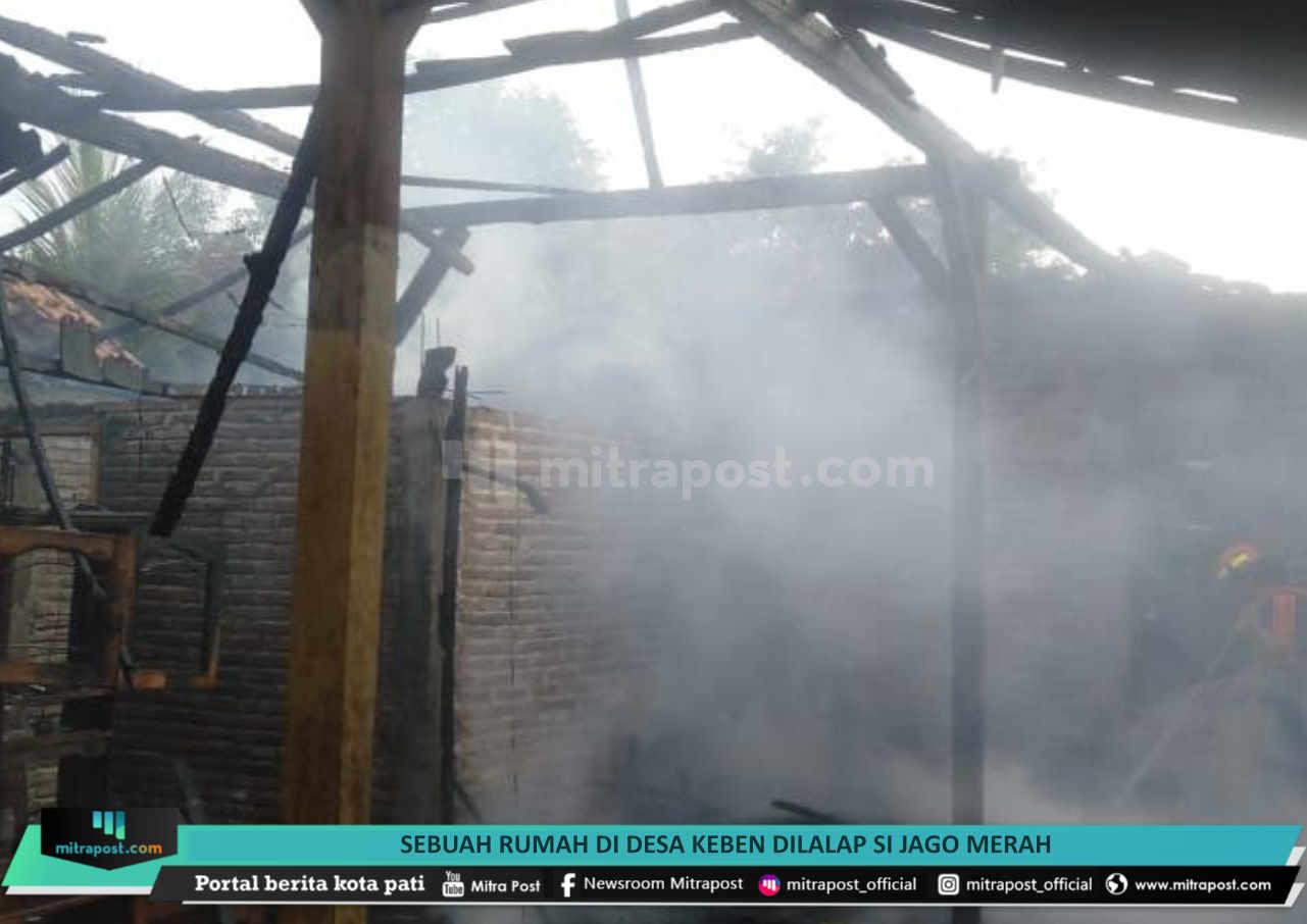 Sebuah Rumah Di Desa Keben Dilalap Si Jago Merah - Mitrapost.com