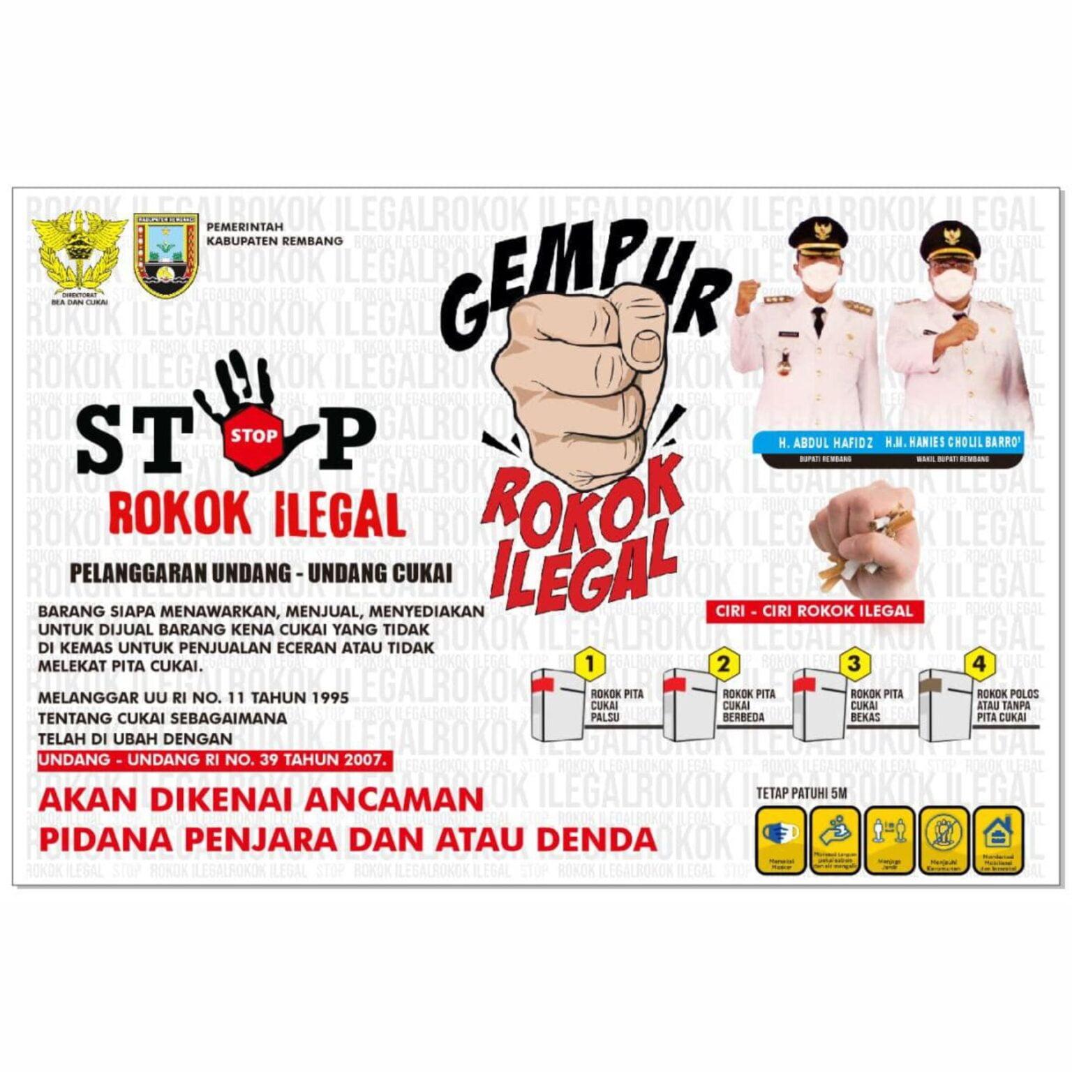 Stop Rokok Ilegal - Kab. Rembang