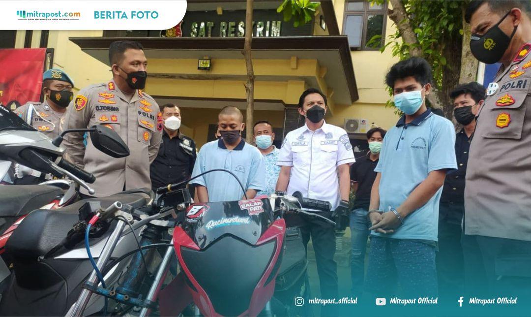 Pencurian Sepeda Motor Di Belasan Titik Terungkap, 2 Pelaku Di Bawah Umur