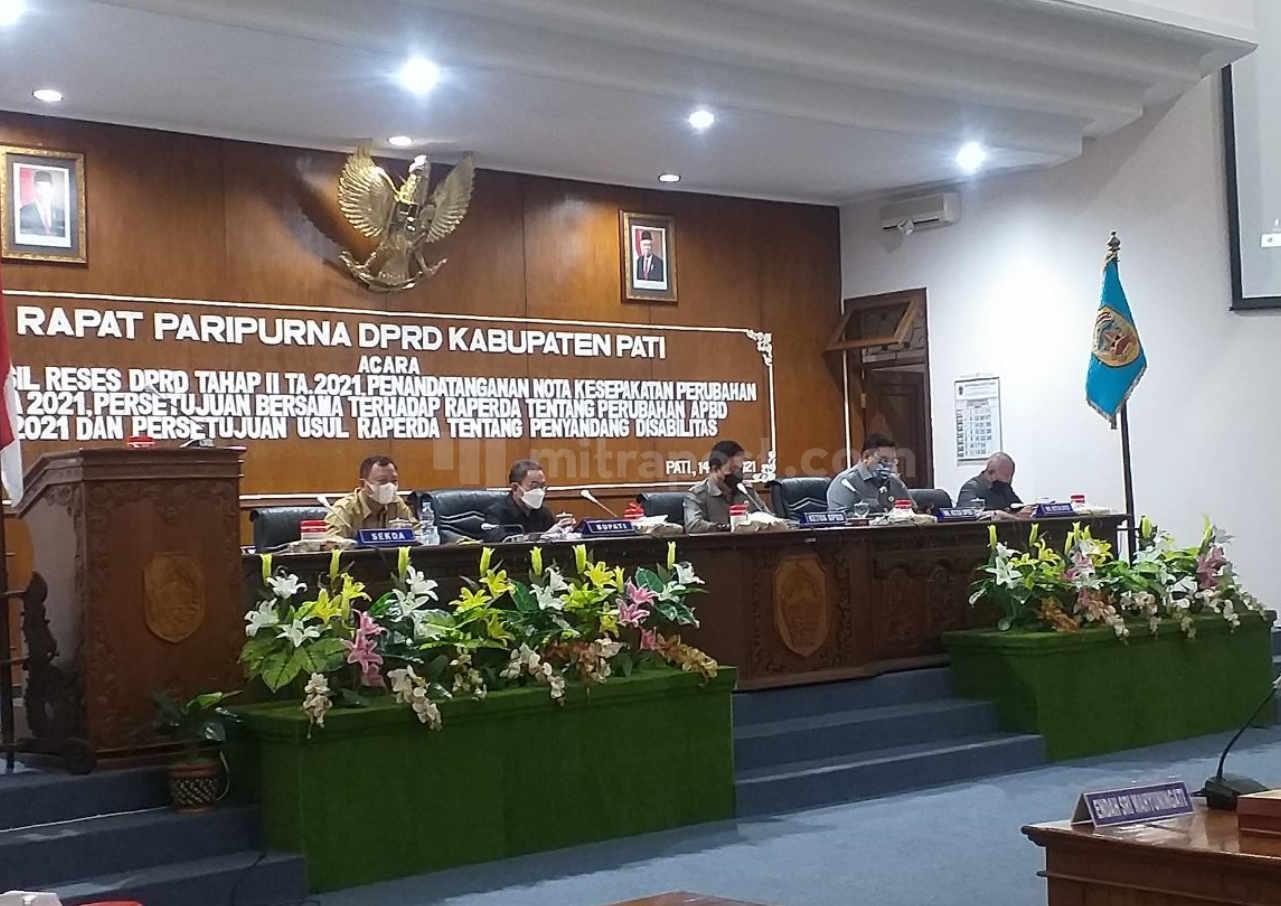 Seluruh Fraksi Sepakat Perubahan Apbd Kabupaten Pati 2021 - Mitrapost.com